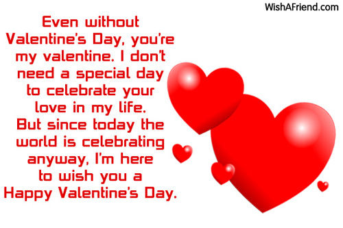 Wishes Message valentine Day