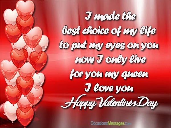 valentines day wishes to husband